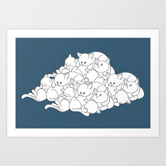 Pile o' Kitties Art Print