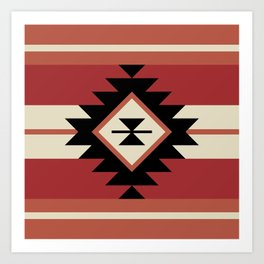 Aztec pattern 5 Art Print