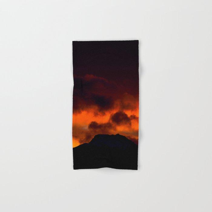 Fire Red Sunrise Hand & Bath Towel