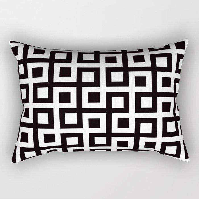 Geometric Pattern 33 (square loop) Rectangular Pillow