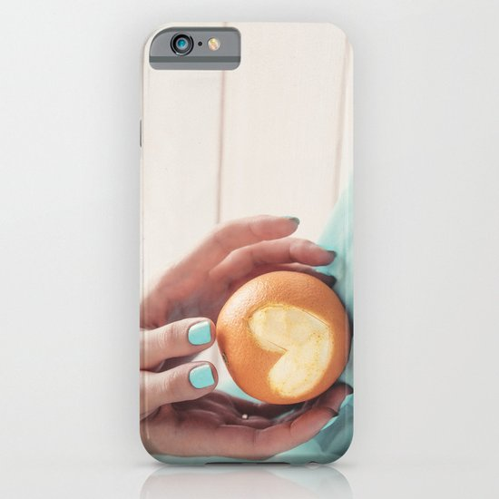 Orange Heart iPhone & iPod Case