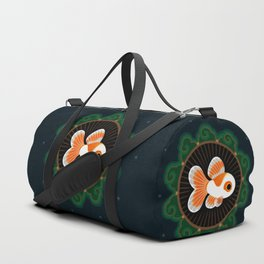 Butterfly goldfish - white Duffle Bag