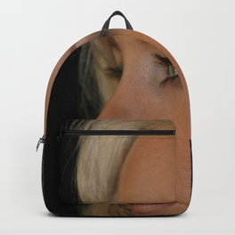 Blond Woman Backpack