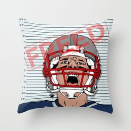 Deflategate Throw Pillow