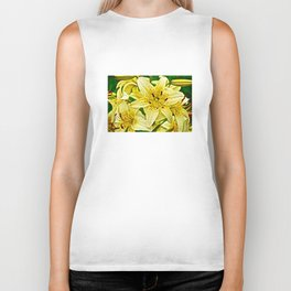 Yellow Tiger Lilies - The Flower Collection Biker Tank