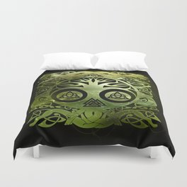 Tree of life - Yggdrasil  and celtic animals Duvet Cover