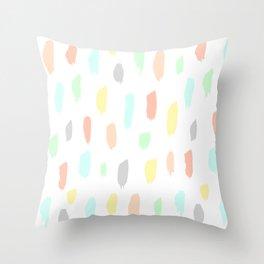 candy rain Throw Pillow