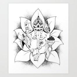 Pen and Ink Drawing - Remover of Obstacles Art Print