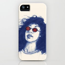 Blue hair don't care iPhone Case