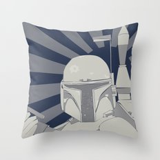Fett is Coming Throw Pillow