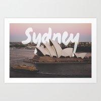 sydney Art Prints featuring Sydney by Tinne Cornelissen
