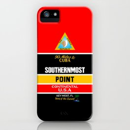 Southern Most Point, Key West, Florida/サザン・モスト・ポイント iPhone Case