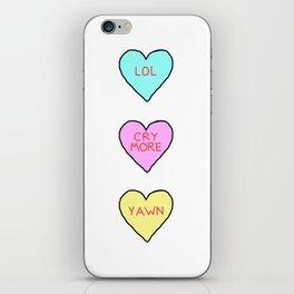 Conversation Hearts iPhone Skin