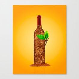 Eco-friendly Wine Illustration Canvas Print