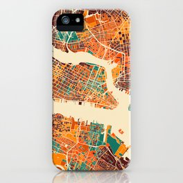 New York Mosaic Map #2 iPhone Case