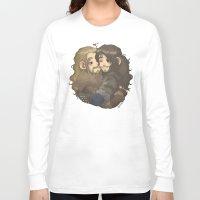 hug Long Sleeve T-shirts featuring Hug by AlyTheKitten