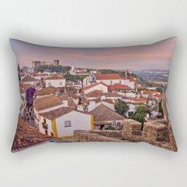 Obidos, dusk Rectangular Pillow