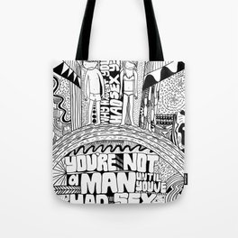 Not A Man Tote Bag