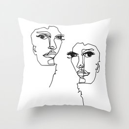 Illustration Tillsammans Throw Pillow