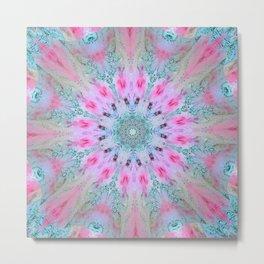 Pink Xray Passion 101 Mandala Metal Print
