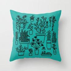 Botanical Sunroom Throw Pillow