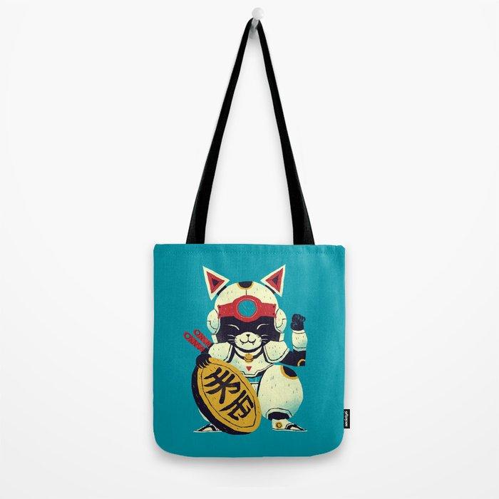 fortune pizza cat Tote Bag