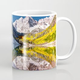 OLena Art Maroon Bells And Maroon Lake Near Aspen Colordo Coffee Mug