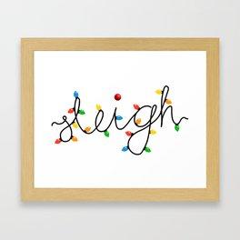 Sleigh Christmas Lights Framed Art Print