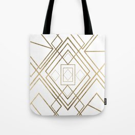 Abstract modern geometrical lines faux gold Tote Bag