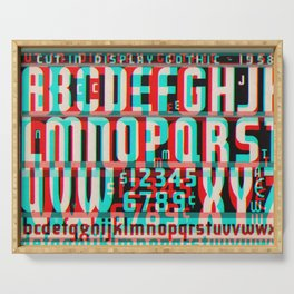 Gothic Display Type Glitch Version Serving Tray