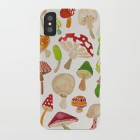mushrooms iPhone & iPod Cases featuring Mushrooms by Cat Coquillette