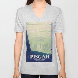 North Carolina Pisgah national park travel poster Unisex V-Neck