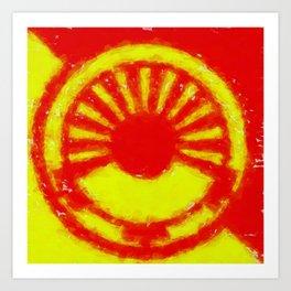 glitch high explosive Art Print