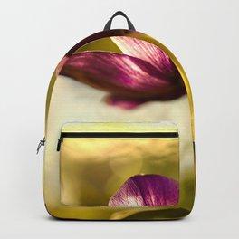 Glowing Purple Flower  Backpack