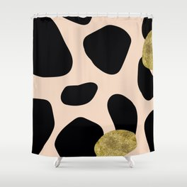 Golden exotics - Cow and soft tangerine Shower Curtain