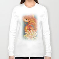 koi Long Sleeve T-shirts featuring Koi by Halinka H