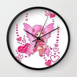 Fee carnation magic fairy tale girl gift Wall Clock