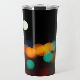 Blurred City Lights Travel Mug