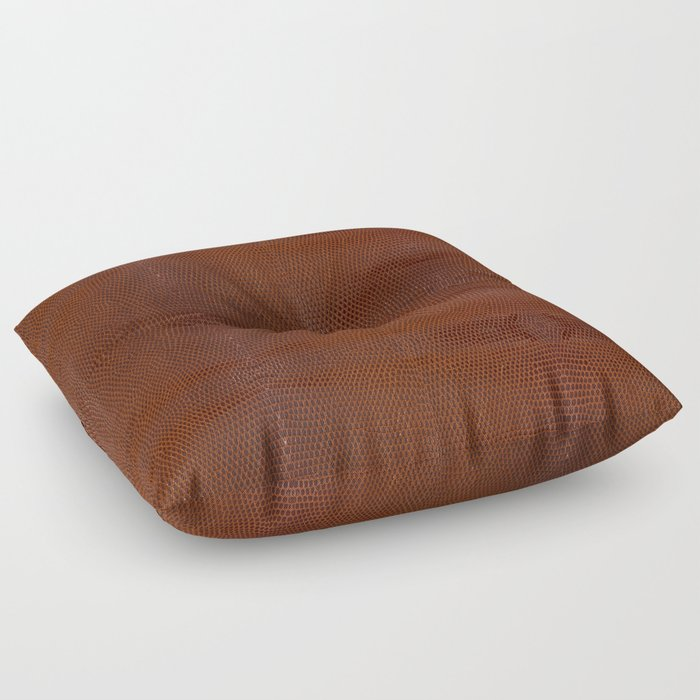 Burnt Orange Leather Floor Pillow by loolyelzayat | Society6