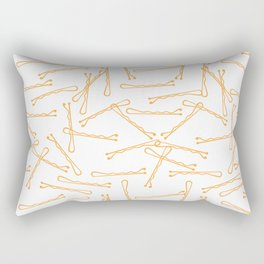 BOBBY PINS (funky orange)) Rectangular Pillow