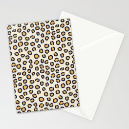 Outrageous Orange Leopard Print Stationery Cards