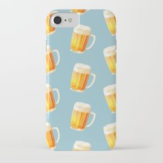 Ice Cold Beer Pattern Slim Case iPhone 8