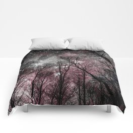 Black Tress Pink & Gray Space Comforters