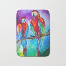 Parrots Bath Mat
