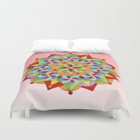 manchester Duvet Covers featuring Manchester Mandala  by Patricia Shea Designs