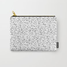 Speckles I: Double Black on White Carry-All Pouch