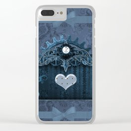 A touch of steampunk with elegant heart Clear iPhone Case