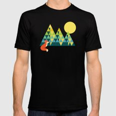 Mountain Fox Mens Fitted Tee SMALL Black