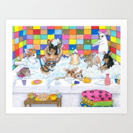 Chihuahua in Bath Art Print