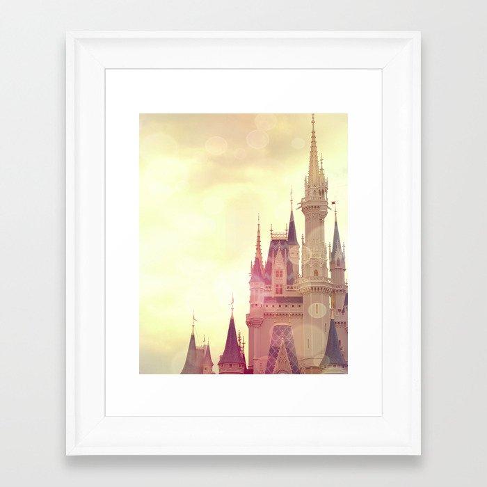 Disney Cinderella Castle Framed Art Print by andreaclare   Society6